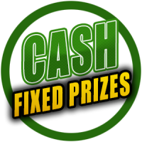 Raffles with fixed cash prizes
