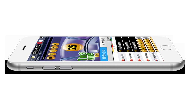 LottoRace on iPhone 6