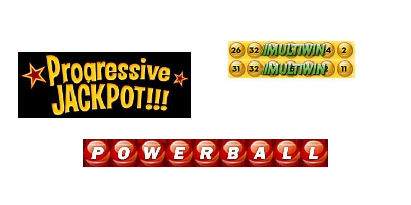 Jackpots, Progressives, Powerball options and more.