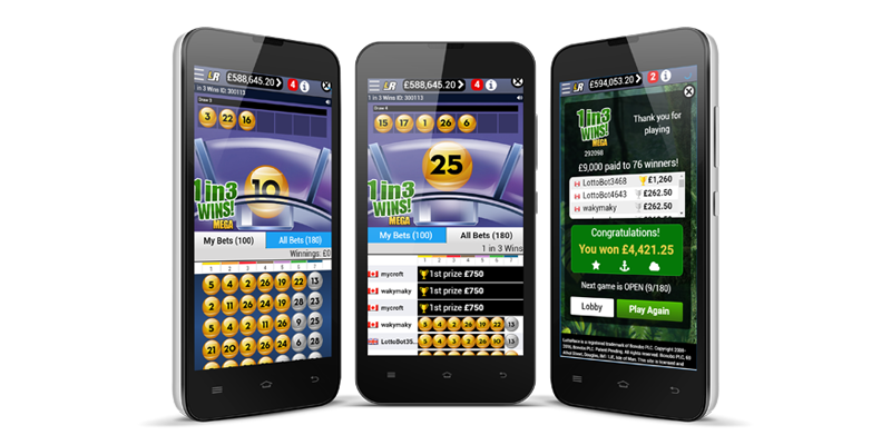 The only lottery platform with live lotto playout