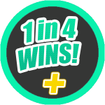 1 in 4 Wins Instant LottoRace Game