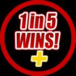 LottoRace 1 in 5 Wins